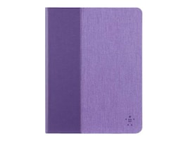Belkin Chambray Cover for iPad Air 2 and iPad Air, Purple, F7N263B1C01, 18816526, Carrying Cases - Tablets & eReaders