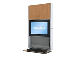 Enovate 550 Lite Wall Station with eLift, Fine Oak, E550T4-N4W-00FO-0, 15728977, Computer Carts - Medical