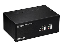 TRENDnet 2PORT DUAL MNTR DISPLAY        PERPPORT KVM SWITCH, TK-240DP, 36465678, KVM Switches