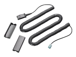 Plantronics Lightweight Coil Cable QD to Modular Plug, 40702-01, 393416, Cables