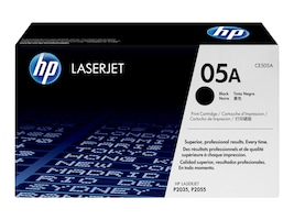 HP 05A (CE505A) Black Original LaserJet Toner Cartridge for HP LaserJet P2035 & P2055 Series Printers, CE505A, 8929025, Toner and Imaging Components