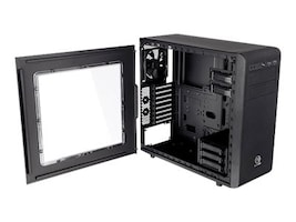 Thermaltake Core V31 Mid Tower Gaming Chassis with Window ATX 3x3.5 Bays 2x5.25 Bays 8xSlots, Black, CA-1C8-00M1WN-00, 18511706, Cases - Systems/Servers