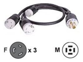 Eaton Power Splitter Cable, L21-30R, 3XL5-30R, CBL149, 9374738, Power Cords