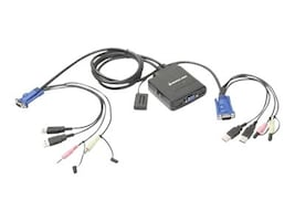 IOGEAR 2-Port USB Cable KVM Switch with Audio and Microphone, GCS72U, 10115864, Cables