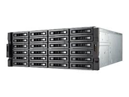 Qnap 24-Bay 10GbE iSCSI IP 4U SAS 12G SAS SATA 6Gb s 4X1GbE SAN, TVSEC2480USASRP8GER2, 31800297, SAN Servers & Arrays