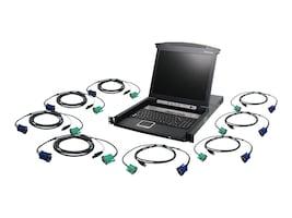 IOGEAR Integrated 17 LCD Combo 8-Port KVM Switch w  USB KVM Cables, TAA, GCL1808KITUTAA, 31877219, KVM Displays & Accessories