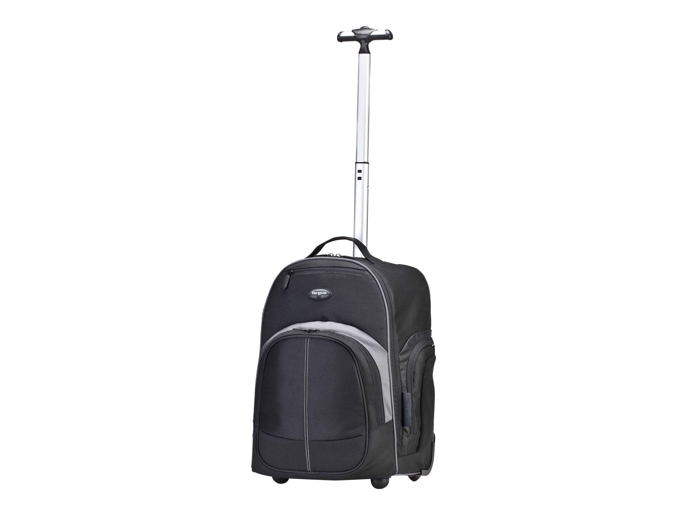 Targus Compact Rolling Backpack, Black, TSB750US, 13800373, Carrying Cases - Notebook