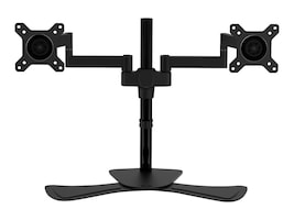 V7 Dual Display Swivel Desk Stand Mount for Displays up to 27, DS1FSD-1N, 31628280, Stands & Mounts - AV