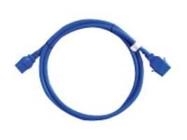 Raritan Securelock Cable 16AWG (1) C14 (1) C13, 10ft, Blue (6-pack), SLC14C13-10FTK2-6PK, 16820978, Power Cords