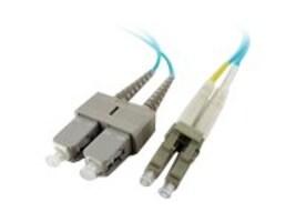 Axiom LC-SC 50 125 OM4 Multimode Duplex Fiber Cable, 0.5m, LCSCOM4MD05M-AX, 30873460, Cables
