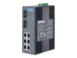 Quatech Advantech EKI-2728SI DIN RM WM Unmanaged Switch 6xGbE 2xGbE SC single-mode x2, EKI-2728SI-AE, 35165260, Network Switches