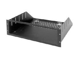 Middle Atlantic RSH Series Custom Rackmount Shelf, 3U x 14d, Black Brushed Anodized, RSH4A3M, 12209039, Rack Mount Accessories