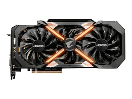 Gigabyte Tech GeForce GTX 1080 Ti PCIe 3.0 x16 Graphics Card, 11GB GDDR5X, GV-N108TAORUS-11GD, 33903089, Graphics/Video Accelerators