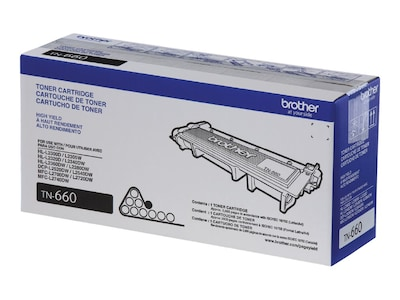 Brother Black TN660 High Yield Toner Cartridge, TN660, 17406621, Toner and Imaging Components - OEM