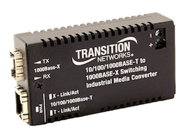 Transition 10 100 1000Base-TX TO MM LC PERP3.3V Industrial Media Converter, M/GE-ISW-LC-01, 31994811, Network Transceivers