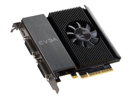eVGA GeForce GT 710 PCIe Graphics Card, 2GB DDR3, 02G-P3-2717-KR, 31362021, Graphics/Video Accelerators