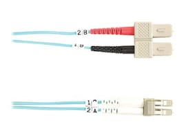 Black Box 10 GbE Fiber Patch Cable, SC-LC, Multimode, 2m, FO10G-002M-SCLC, 13631661, Cables