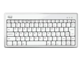 Adesso Bluetooth 3.0 Mini Keyboard 1010 for iPad, iPhone, Mac, Bluetooth Enabled Devices, WKB-1010BW, 13818012, Keyboards & Keypads