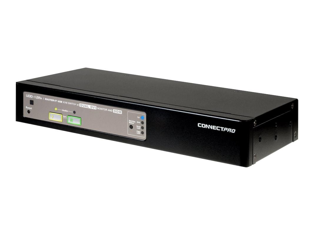 Connectpro 2-Port DVI Dual Monitor KVM Switch DDM w Audio