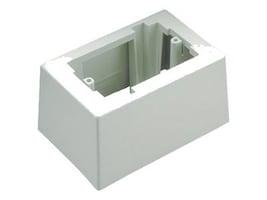 Panduit Pan-Way Low Voltage Single Gang Surface Mount Box w  Adhesive Backing (Off-White), JB1DIW-A, 7178346, Premise Wiring Equipment