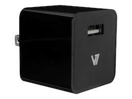 V7 1-Port 2.4A USB Wall Charger for iPad Air iPhone w  1M Lightning Cable, Black, AC30024ACLT-BLK-2N, 17652937, Battery Chargers