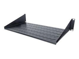 Intellinet 2U 19 2-Point Front Mount Cantilever Shelf, 9.8 Depth, Black, 712507, 35155555, Rack Mount Accessories