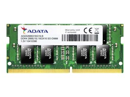 A-Data 16GB PC4-21300 260-pin DDR4 SDRAM SODIMM, AD4S2666316G19-S, 36389089, Memory