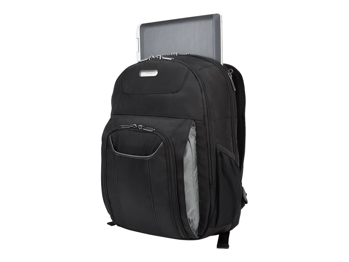 Targus Zip-Thru Air Traveler Backpack, Black, TBB012US, 9321409, Carrying Cases - Notebook