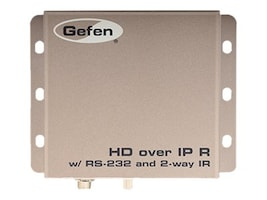Gefen HD over IP w  RS-232 & 2-way IR, EXT-HD2IRS-LAN-RX, 17812195, Video Extenders & Splitters