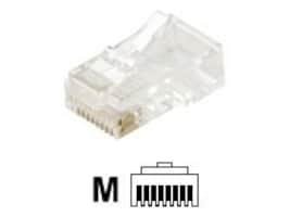 Steren Modular 3-Prong Round Solid 8C RJ45 Cat5e Plug, 301-178, 35257480, Premise Wiring Equipment