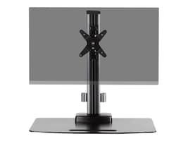 Ergotech Height Adjustable Single Desk Stand with Tilt and Pivot, TAA, 130-D16-B01, 36737557, Stands & Mounts - Desktop Monitors