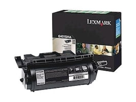 Lexmark Black High Yield Return Program Toner Cartridge for T640, T642 & T644 Series Printers, 64015HA, 5907218, Toner and Imaging Components