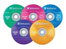 Verbatim 12x 700MB 80min. Color CD-R Media (20-pack Slim Case), 96685, 10021745, CD Media