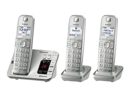Panasonic Link2Cell Bluetooth Cordless Phone w  Answering System & (3) Handsets, KX-TGE463S, 35792440, Telephones - Consumer