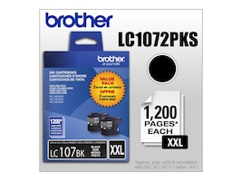 Brother Black LC107BK Innobella Super High Yield (XXL Series) Black Ink Cartridges for MFC-J4510DW (2-pack), LC1072PKS, 14714792, Ink Cartridges & Ink Refill Kits - OEM