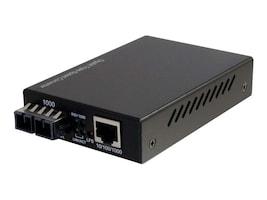 C2G 10 100 1000 BASE-TX TO 1000BASE SX SC Gigabit Media Converter, 26633, 18442341, Network Transceivers