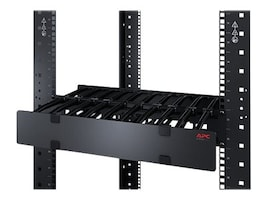 APC Horizontal Cable Manager, 1U x 4 Deep, Single-Sided w  Cover, AR8602A, 16491182, Rack Cable Management
