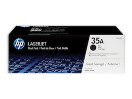 HP 35A (CB435D) 2-pack Black Original LaserJet Toner Cartridges, CB435D, 12416193, Toner and Imaging Components - OEM