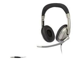 Cyber Acoustics Stereo Headphone - Adult w  Mic, AC-8002, 18039093, Headsets (w/ microphone)