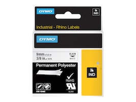 DYMO RhinoPRO Permanent Polyester Tape 3 8 x 18', 18482, 4821391, Paper, Labels & Other Print Media