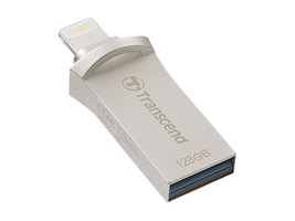 Transcend 128GB JetDrive Go 500 Flash Drive, Silver, TS128GJDG500S, 35325286, Flash Drives
