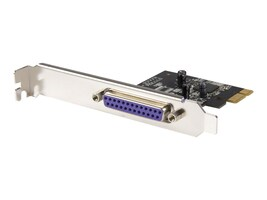StarTech.com 1-Port PCIe Dual Profile Parallel Adapter Card - SPP EPP ECP, PEX1P, 9375589, Controller Cards & I/O Boards