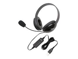 Ergoguys Stereo Headphones w  USB Plug via ErgoGuys - Black, 2800BK-USB, 17584997, Headsets (w/ microphone)
