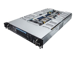 Gigabyte Tech Barebones, G250-G51 2U RM (2x)E5-2600 v4 Family Max.128GB DDR4 8x2.5 HS Bays 2x10GbE 2x2000W, G250-G51, 32092894, Barebones Systems