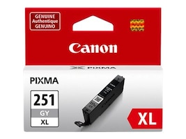 Canon Gray CLI-251GY XL Ink Tank, 6452B001, 15187162, Ink Cartridges & Ink Refill Kits