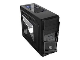 Thermaltake Chassis, Commander Mid-Tower, ATX, 3x5.25, 6x3.5, 7xSlots, Window, Black, VN400A1W2N, 13077154, Cases - Systems/Servers