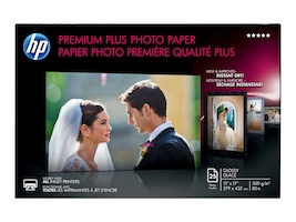 HP 11 x 17 Premium Plus Glossy HPS Highest-Quality Photo Paper, CV065A, 14566179, Paper, Labels & Other Print Media
