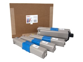 Oki 1.5K CMYK RAINBOW TONER PACKIS, 52128401, 41044361, Toner and Imaging Components - OEM