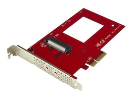StarTech.com U.2 to PCIe Adapter for 2.5 U.2 NVMe Solid State Drive - SFF-8639 x4 PCI Express 3.0, PEX4SFF8639, 34177630, Drive Mounting Hardware