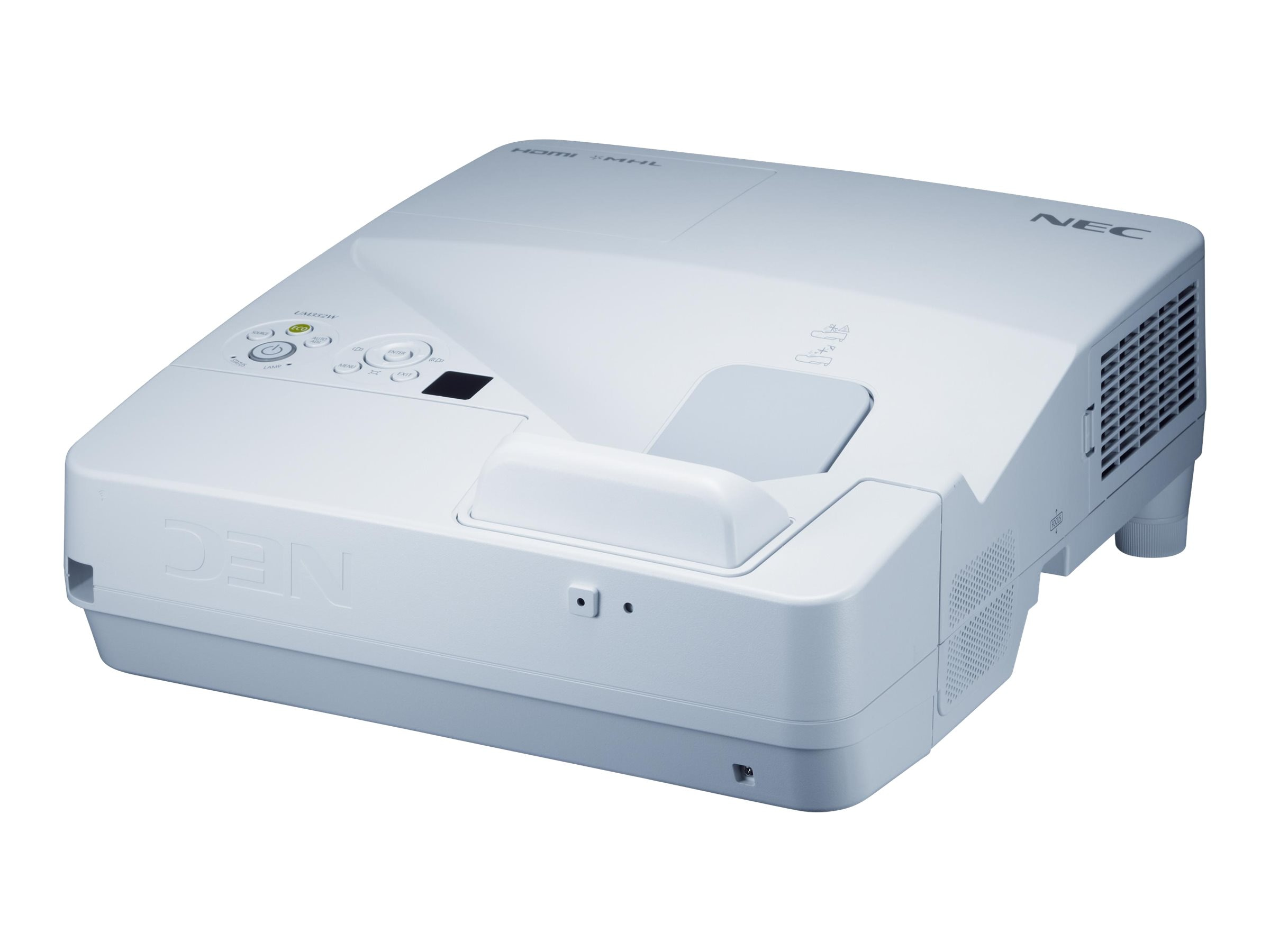 NEC UM352W WXGA LCD Interactive Projector, 3500 Lumens, White, NP-UM352W, 22429852, Projectors